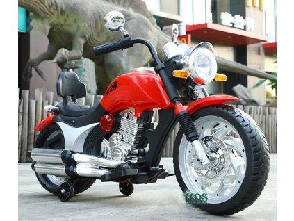 SUPER TOYS Elektrická motorka MEGA CHOPPER pomocné kolieska kolesá EVA motorka pre deti elektricdká motorka pre deti 01