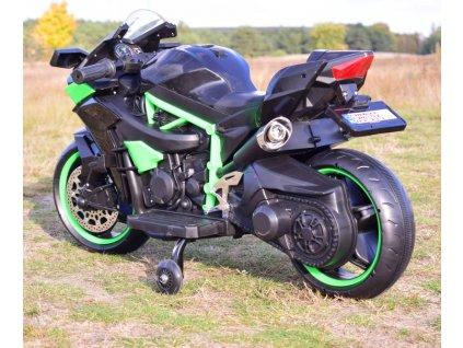 SUPER TOYS Elektrická motorka NINJA svietiace kolesá elektrická motorka pre deti motorka na batériu pre deti športová motorka pre deti (6)