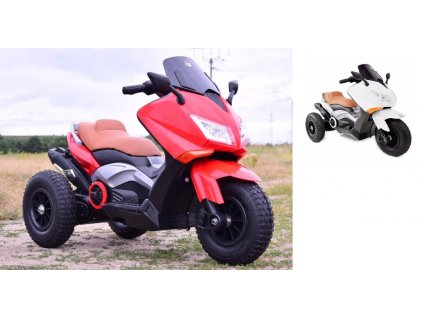 SUPER TOYS Elektrická motorka HERO nafukovacie kolieska motorka pre deti elektrická motorka pre dieťa 00