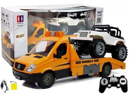 DOUBLE E Mercedes Benz Laveta 118 2,4 GHz Prepravník + JEEP auto na diaľkové ovádanie jeep na diaľkové ovládanie (6)