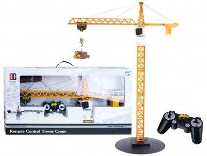 RC Double E Tower Crane žeriav 360° 120 malypretekar RC modely žeriav s hákom hračky hrackarstvo liesek orava športové potreby Vianoce (1)