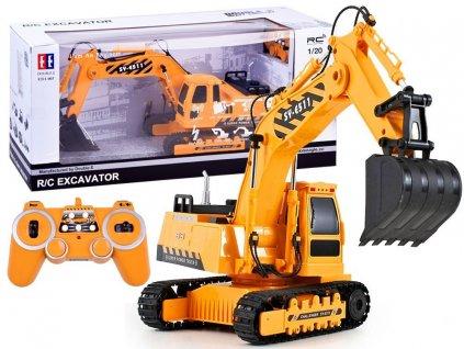 RC Double E Excavator Pásový bager 120 malypretekar hrackarstvo hracky orava liesek (1)