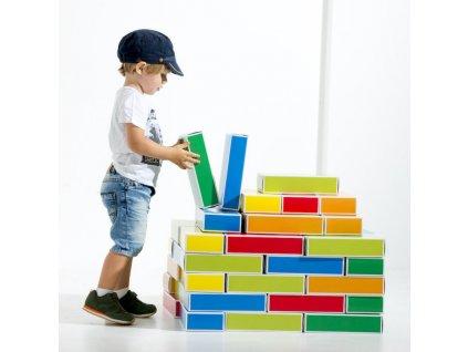 Farebné kartónové tehly BUNTBOX malypretekar maly staviteľ hracky hrackaren pre detičky