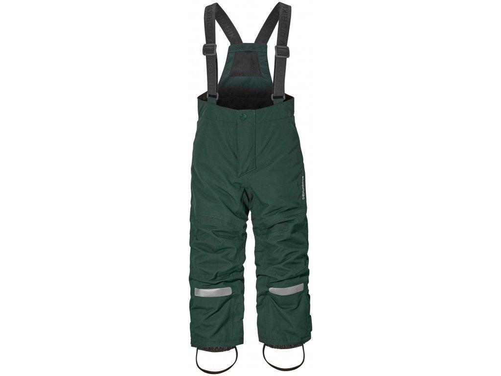 DIDRIKSONS 1913 Kalhoty zateplené IDRE dětské - Tmavě zelené