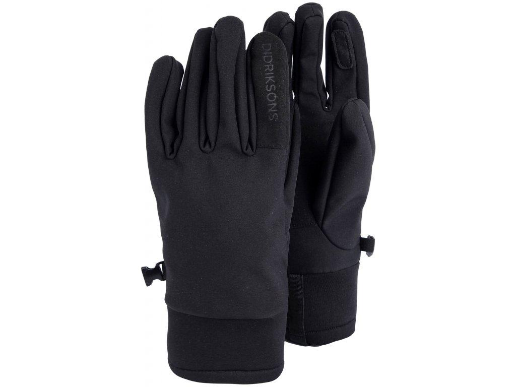 Softshellové prstové rukavice Didriksons 1913 ISA - Černé (502828)