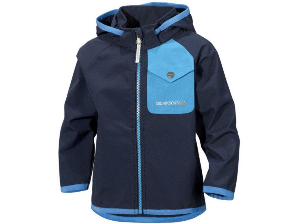 Didriksons 1913 OTEGO dětská softshellová bunda - Modrá