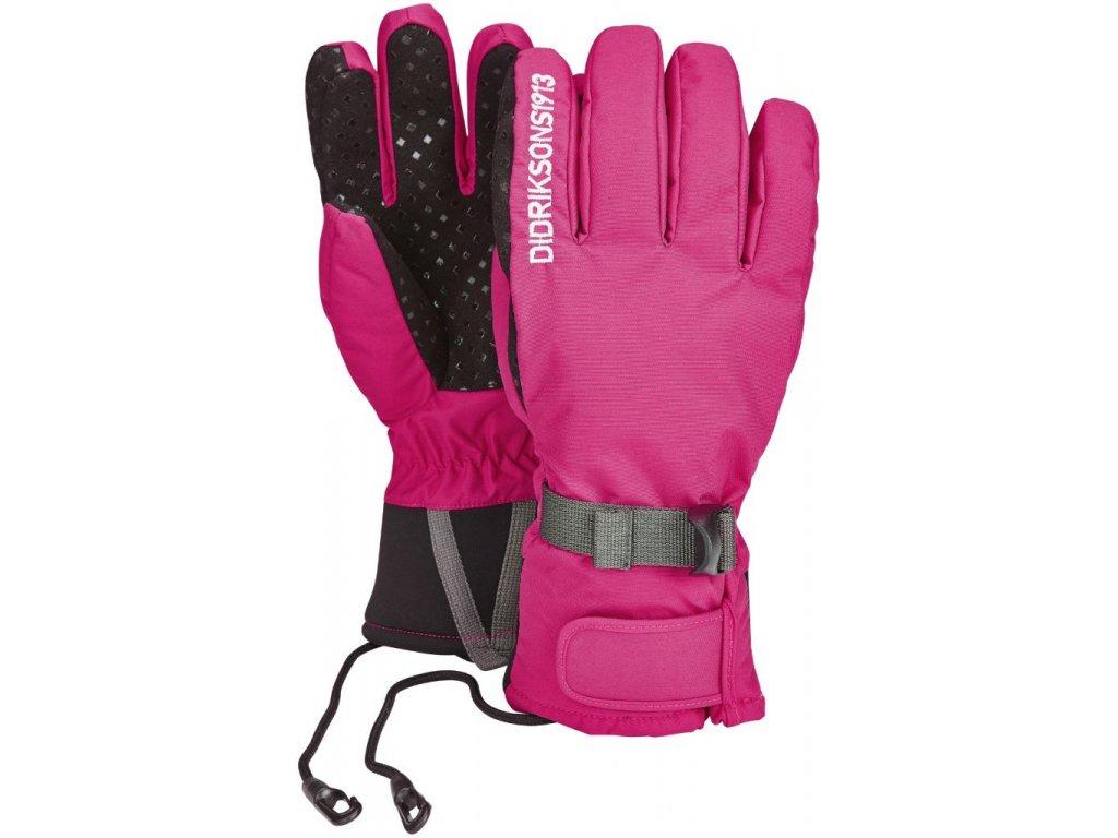 Didriksons 1913 FIVE JR dětské prstové zateplené rukavice  - Růžové
