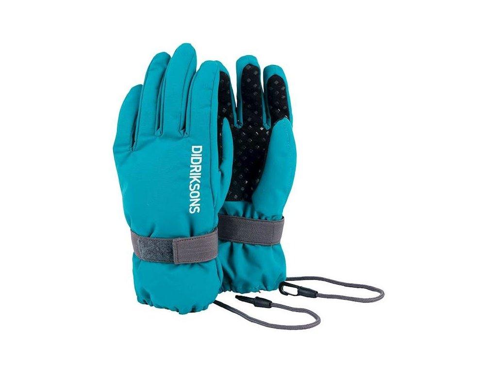 Dětské prstové zateplené rukavice Didriksons 1913 BIGGLES FIVE - Modré