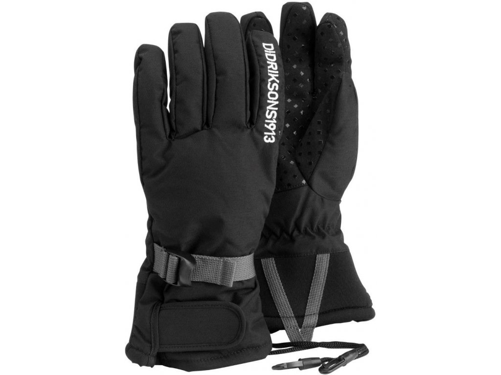 Didriksons 1913 FIVE JR juniorské prstové zateplené rukavice  - Černé