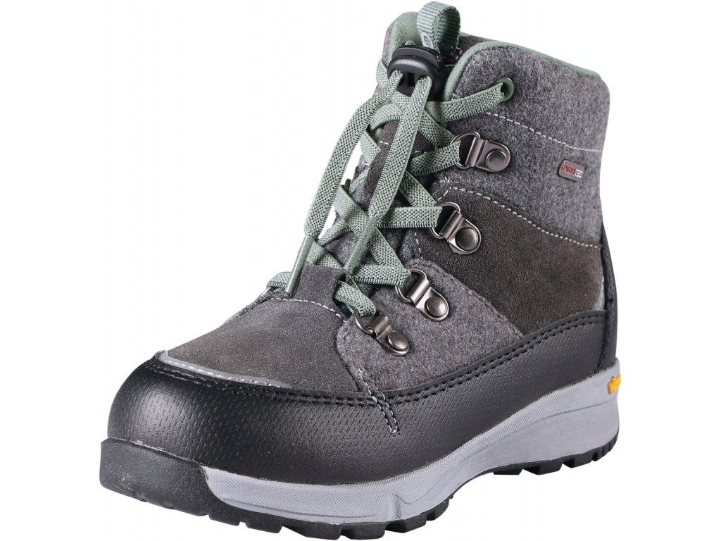 Reima Wander dark grey dětské membránové boty