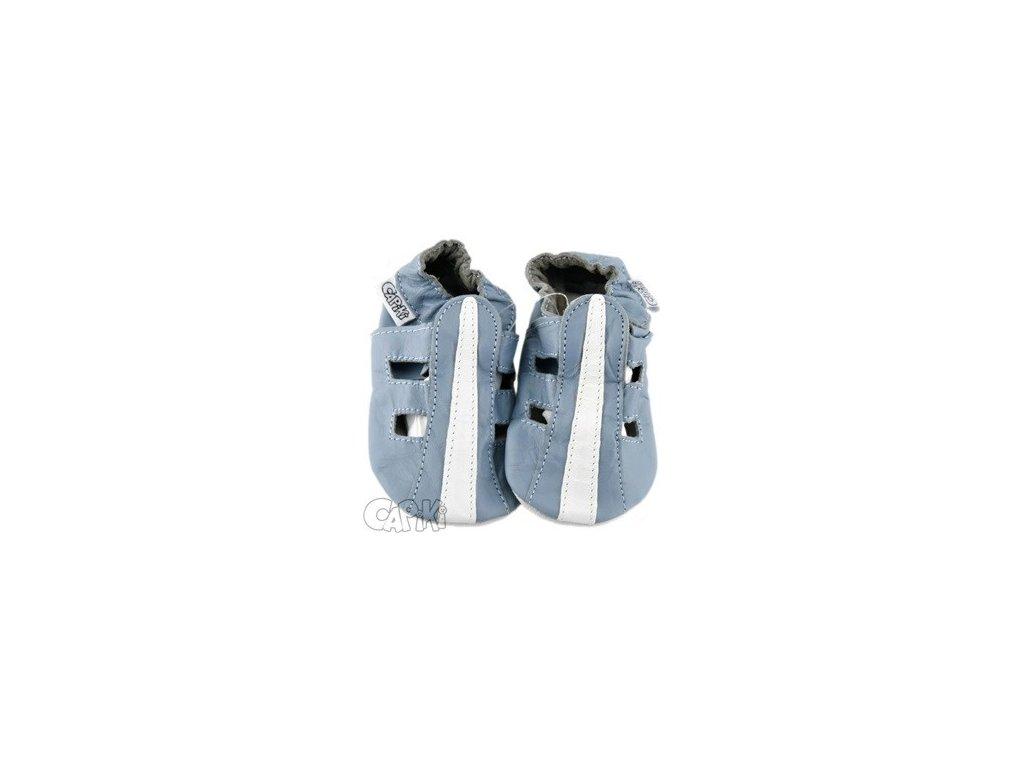 Capiky kožené capáčky sandálky modré
