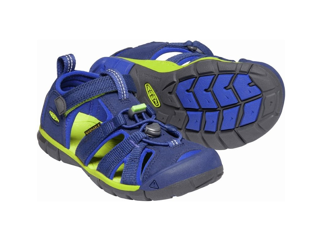 KEEN SEACAMP II CNX YOUTH JR blue depths/chartreuse