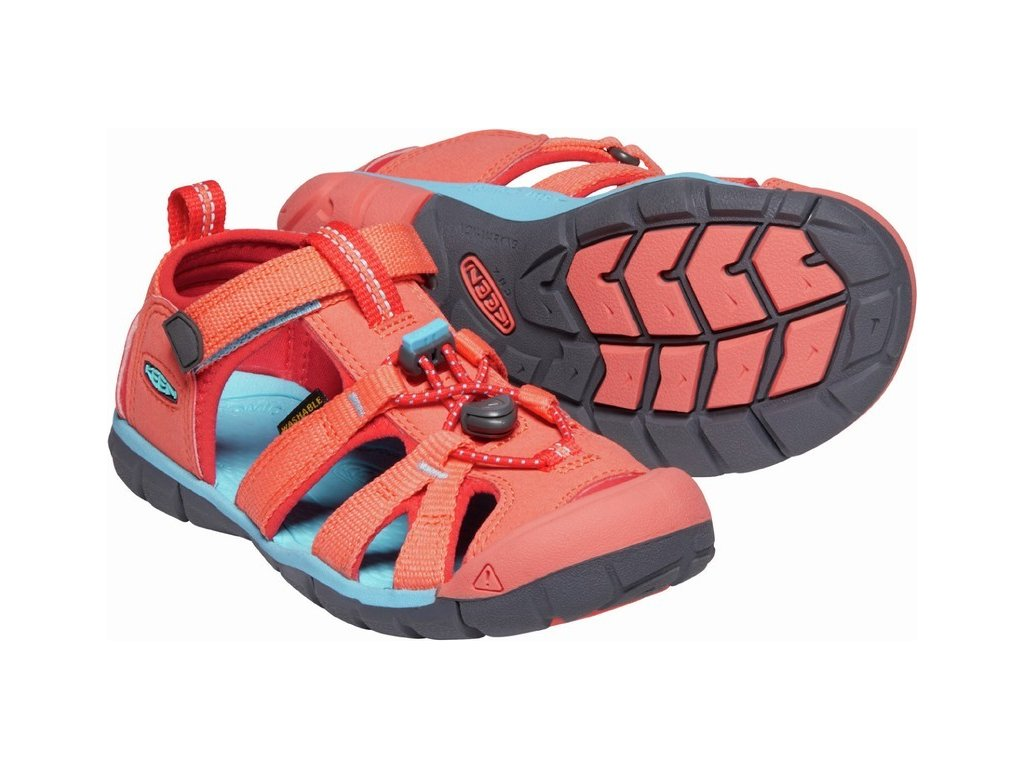 KEEN SEACAMP II CNX YOUTH JR coral/poppy red