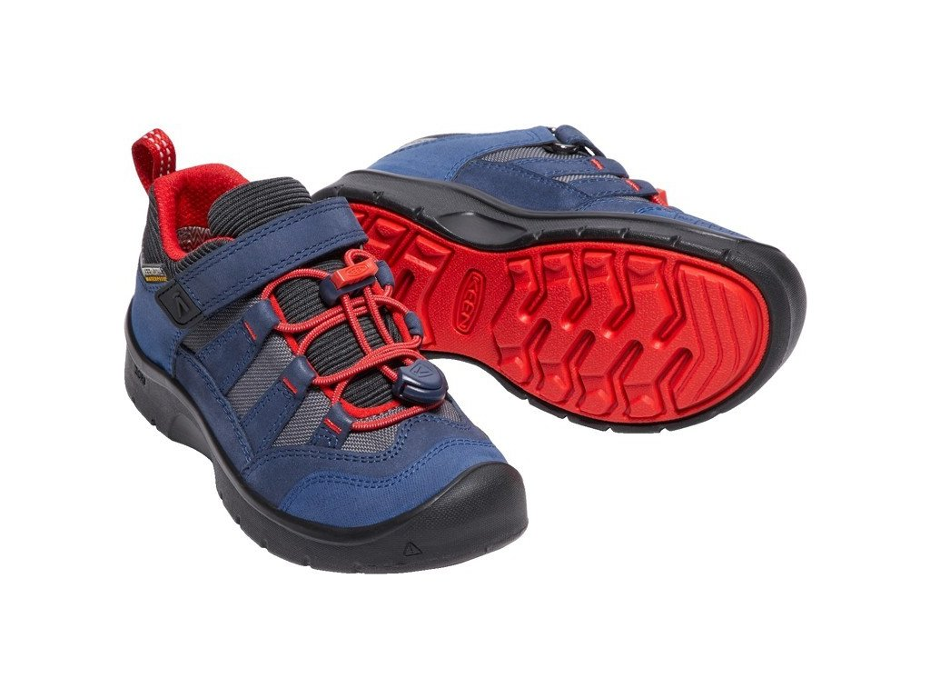KEEN HIKEPORT WP CHILDREN dress blues/firey red