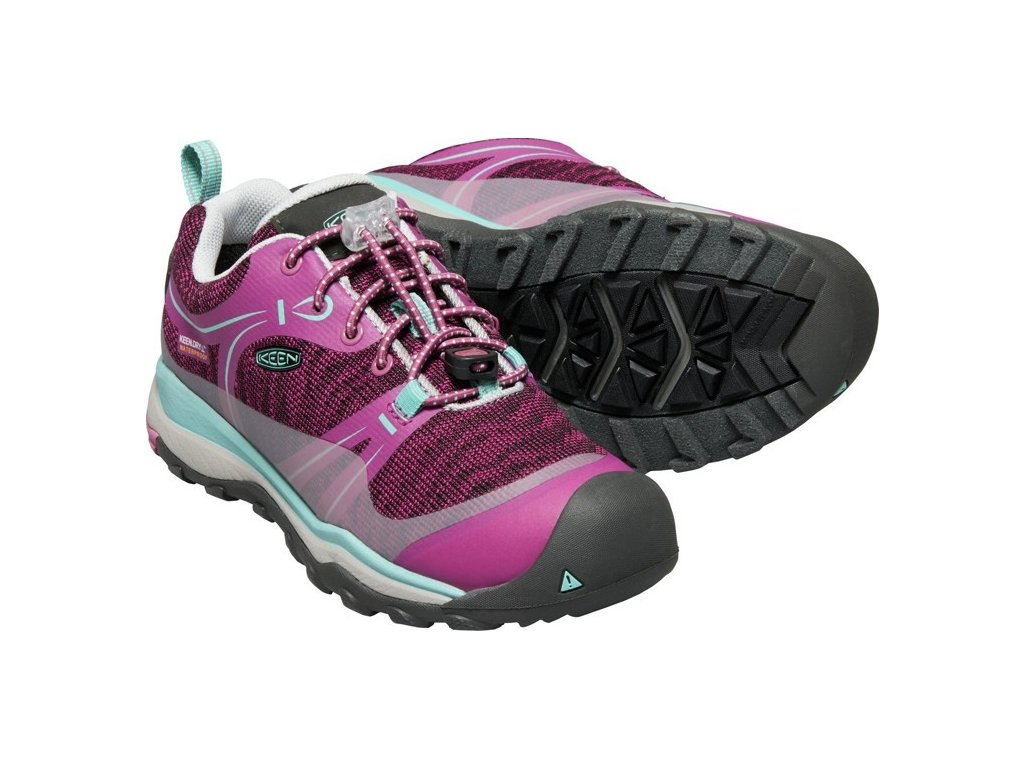 KEEN TERRADORA LOW WP YOUTH JR boysenberry/red violet