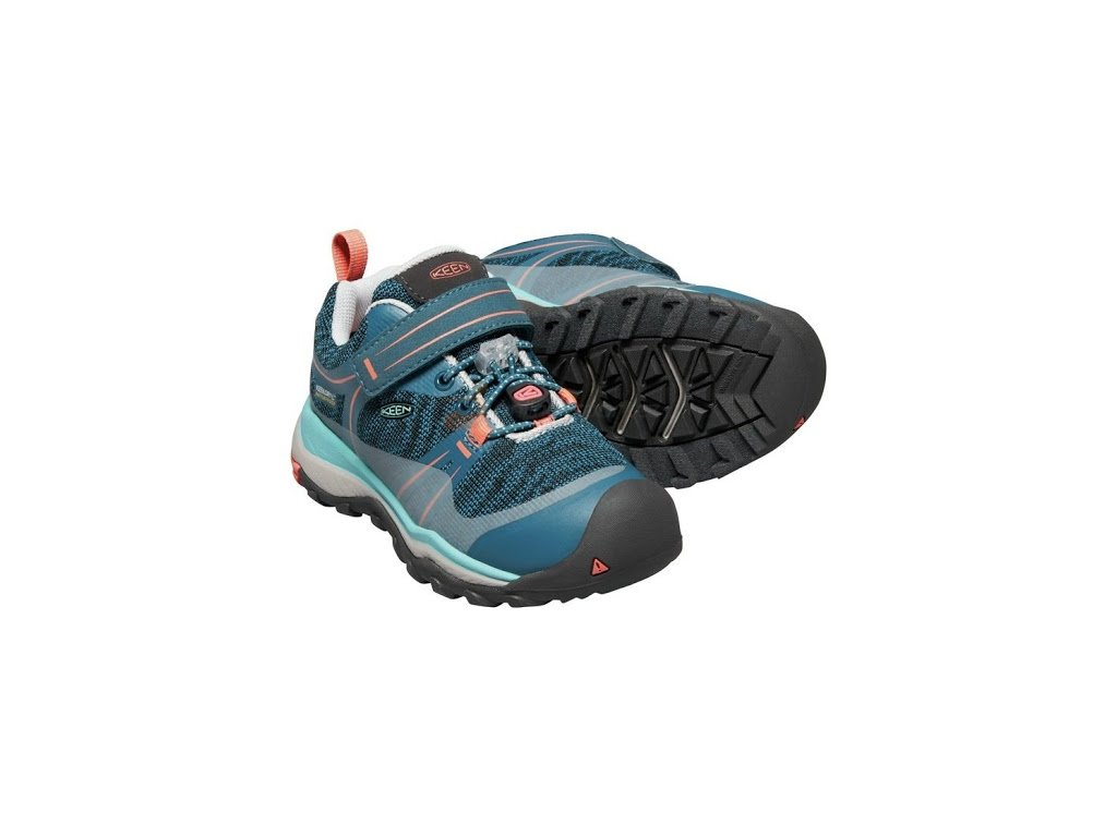 KEEN TERRADORA LOW WP K aqua sea/coral