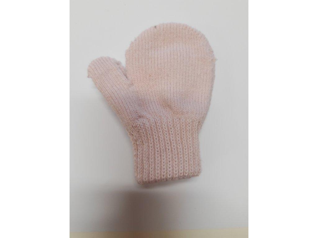 RDX dětské pletené palčáky světle růžová