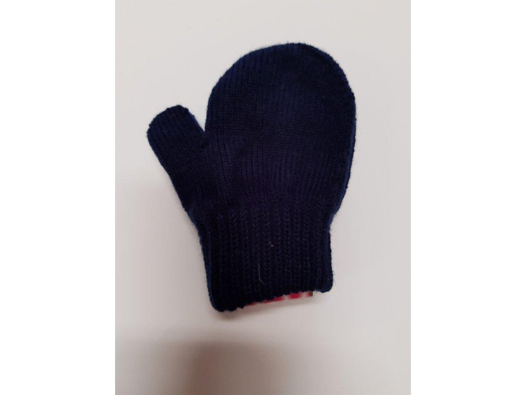 RDX dětské pletené palčáky tm.modrá