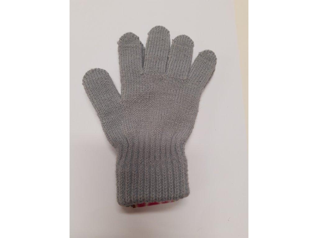 RDX dětské pletené prstové rukavice šedé