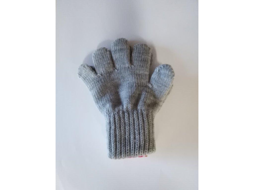 RDX dětské pletené prstové rukavice šedý melír