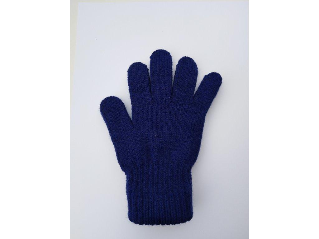 RDX dětské pletené prstové rukavice tm.modré