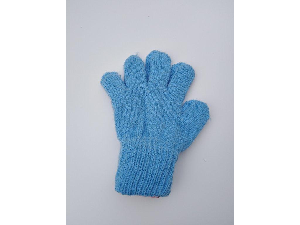 RDX dětské pletené prstové rukavice sv.modré