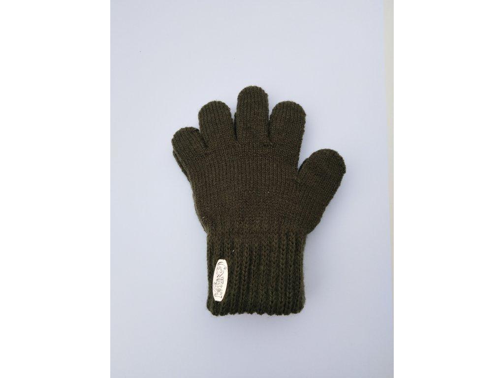 RDX dětské pletené prstové rukavice khaki