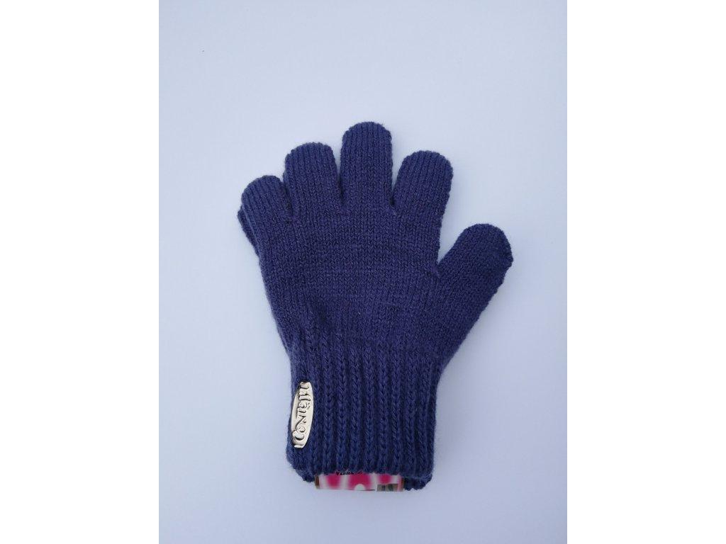 RDX dětské pletené prstové rukavice fialové