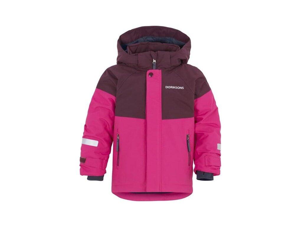 Didriksons LUN dětská zimní bunda růžová