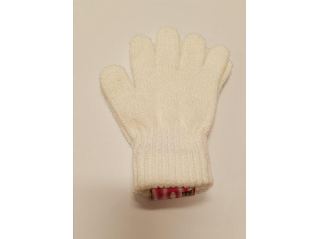 RDX dětské pletené prstové rukavice bílé
