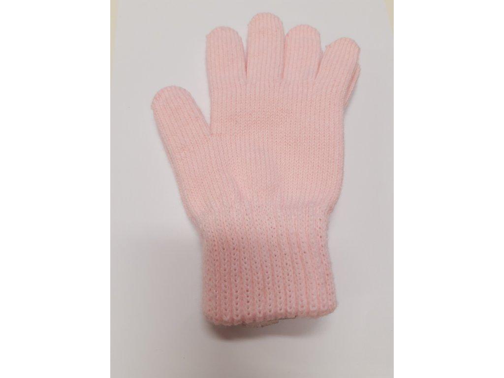 RDX dětské pletené prstové rukavice sv.růžové