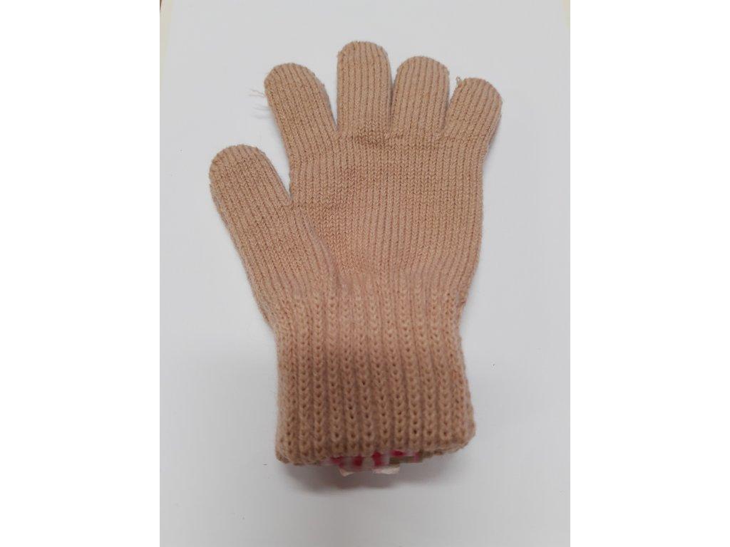 RDX dětské pletené prstové rukavice latte
