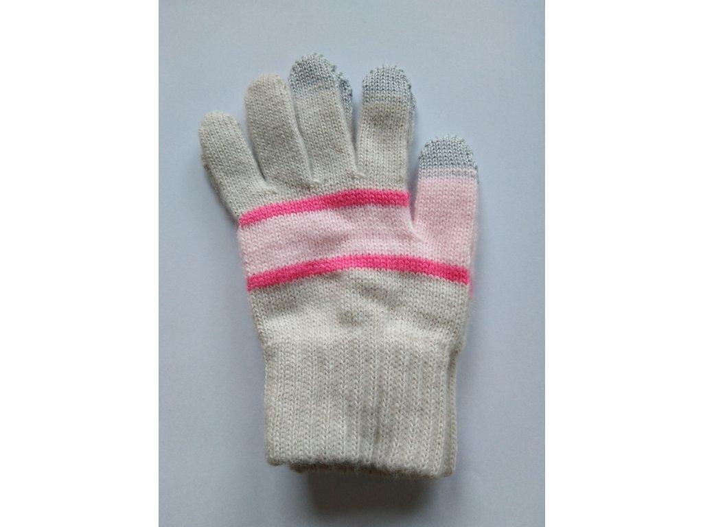 RDX dětské pletené prstové rukavice dívčí touchscreen