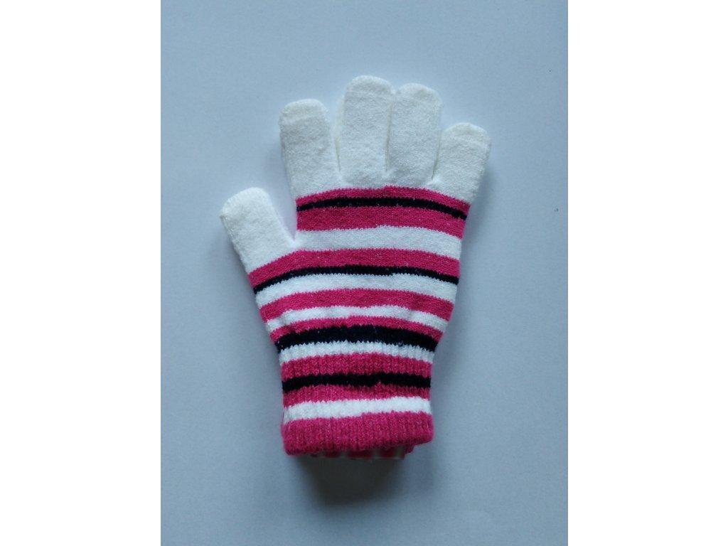 RDX dětské pletené prstové rukavice pruhované bílé 2