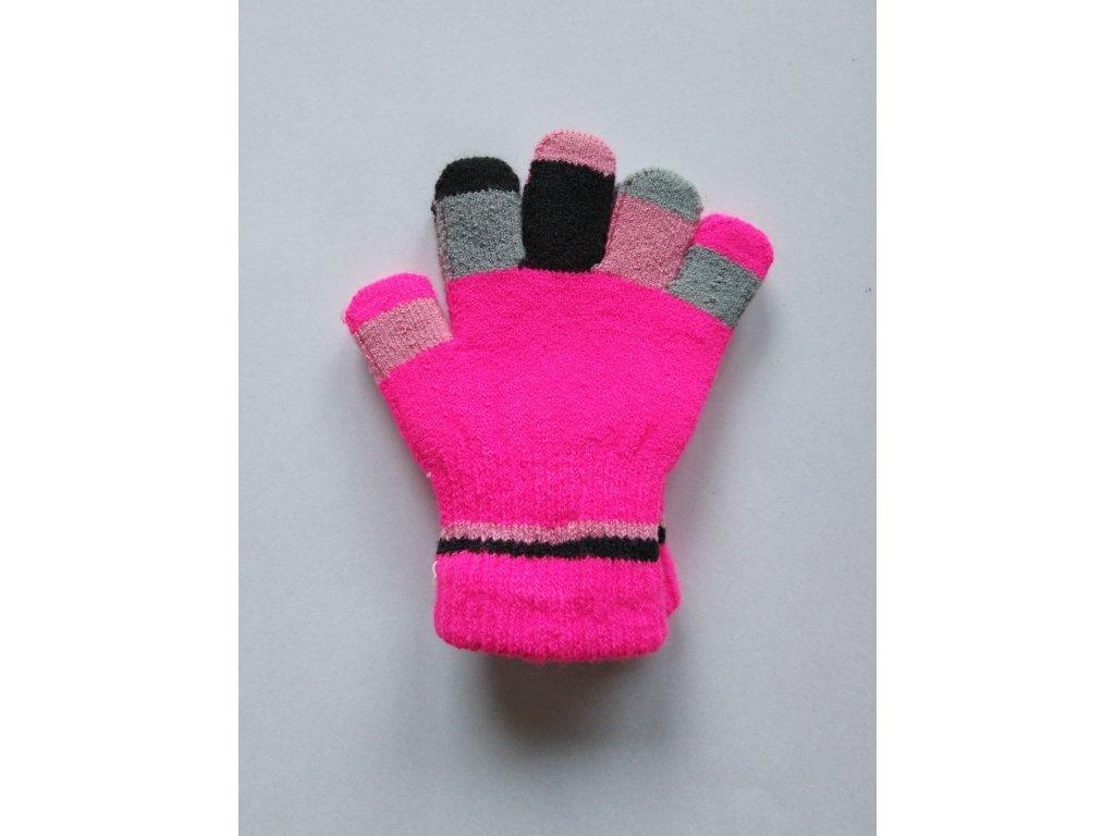 RDX dětské pletené prstové rukavice růžové prsty