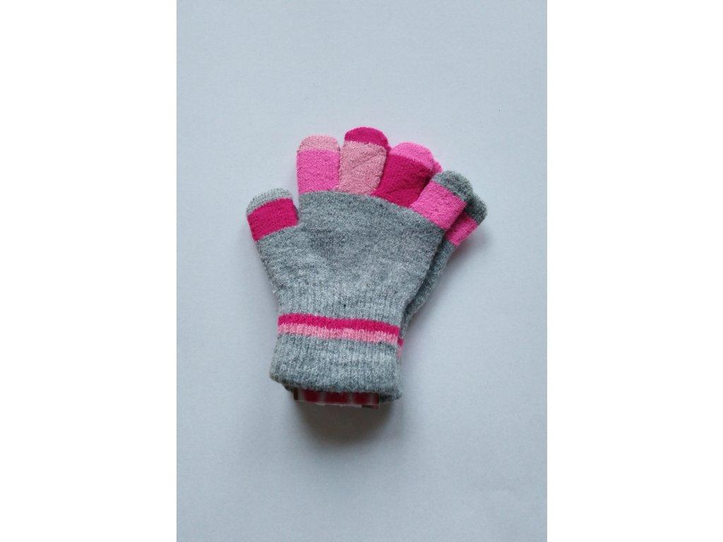 RDX dětské pletené prstové rukavice šedé prsty 1