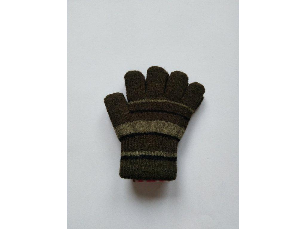 RDX dětské pletené prstové rukavice zelené
