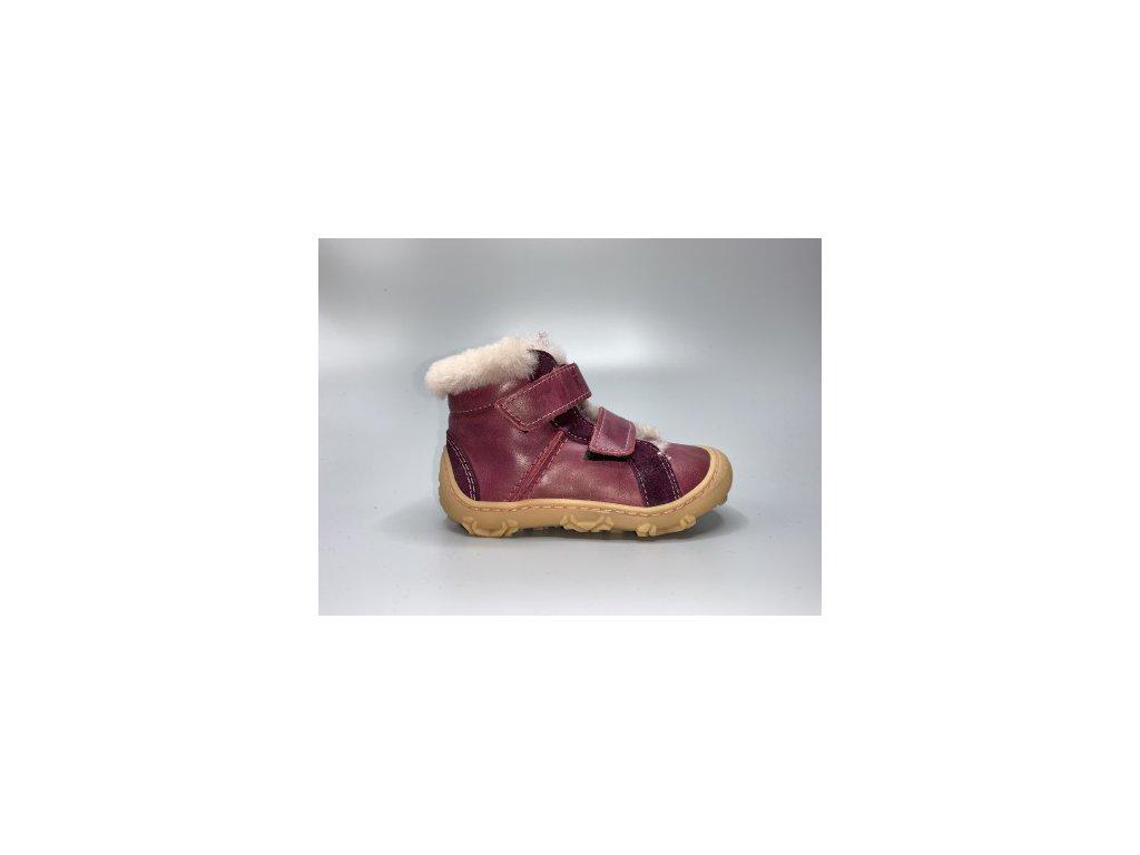 Ricosta Pepino LIAS W MERLOT zateplené dětské celokožené botičky
