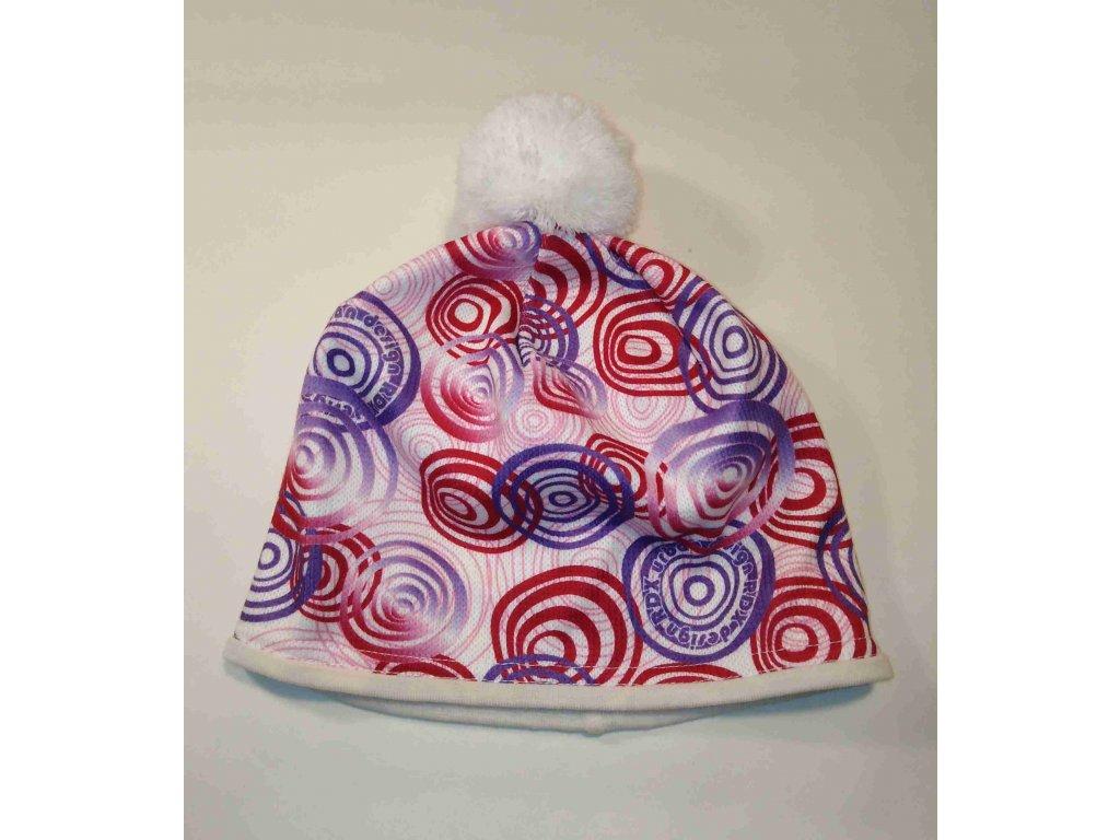 RDX zimní pletená čepice Merino 3461 bílá