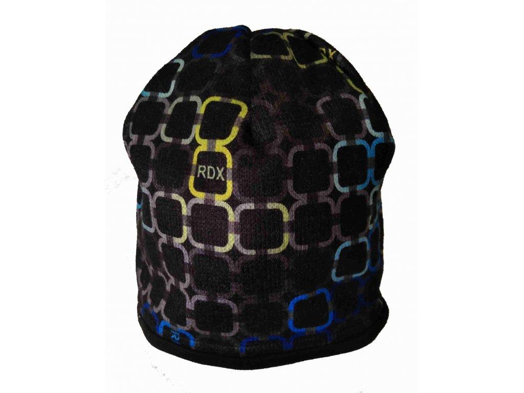 RDX zimní pletená čepice Merino 3484 modrá