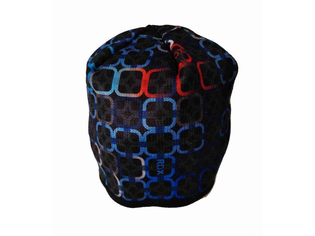 RDX zimní pletená čepice Merino 3484 červená