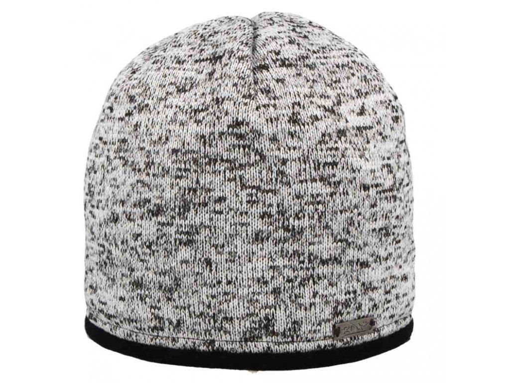 RDX zimní pletená čepice Merino 3781 šedá
