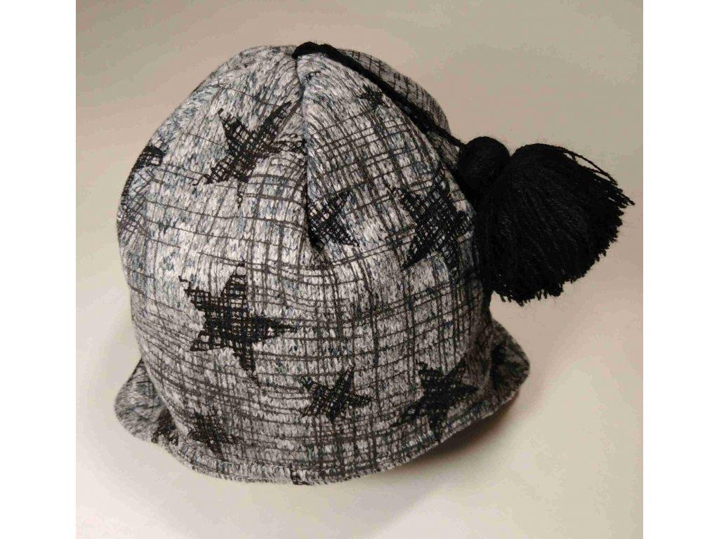 RDX zimní pletená čepice Merino přes uši 3479