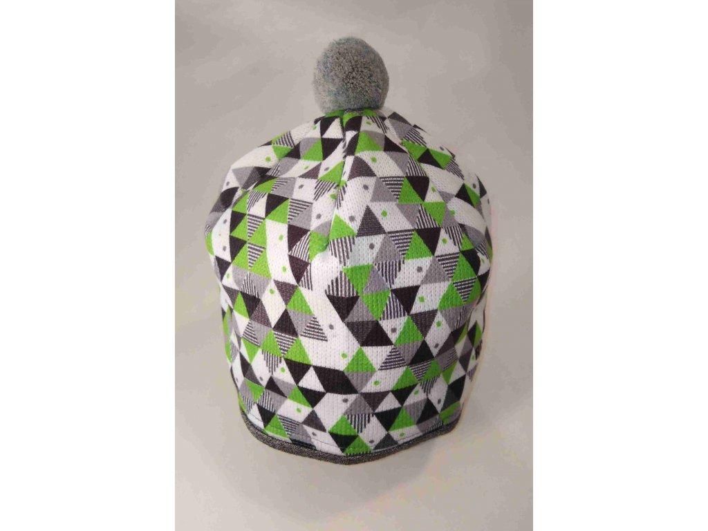 RDX zimní pletená čepice s bambulí 3670 zelená
