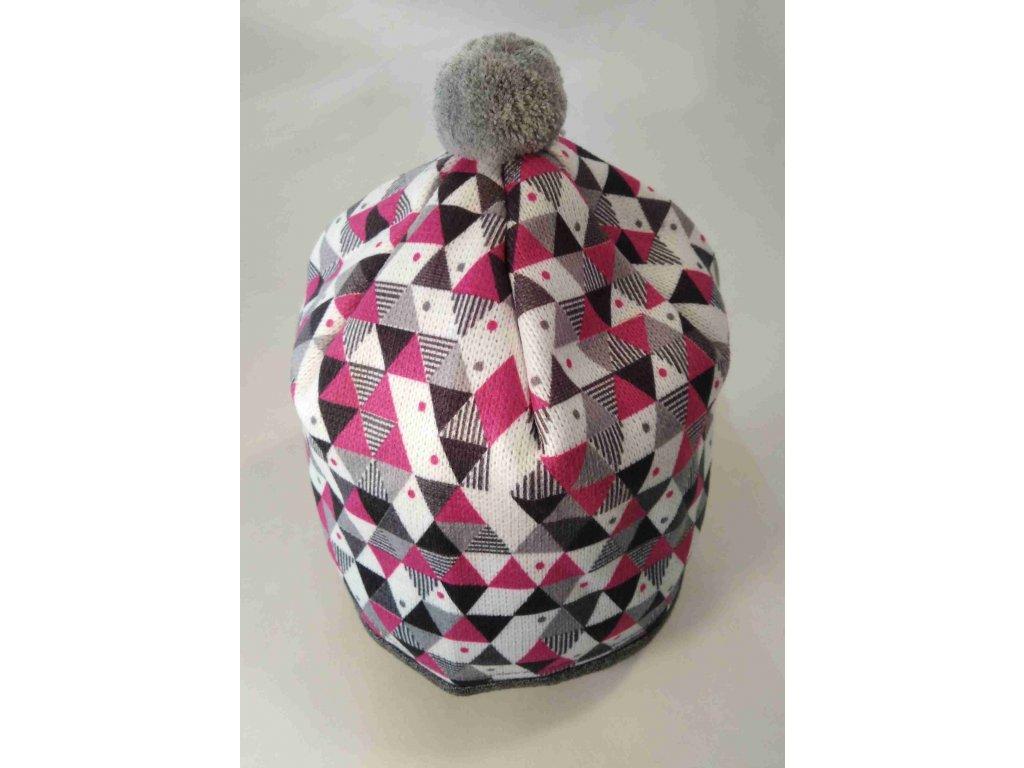 RDX zimní pletená čepice s bambulí 3670 fialová