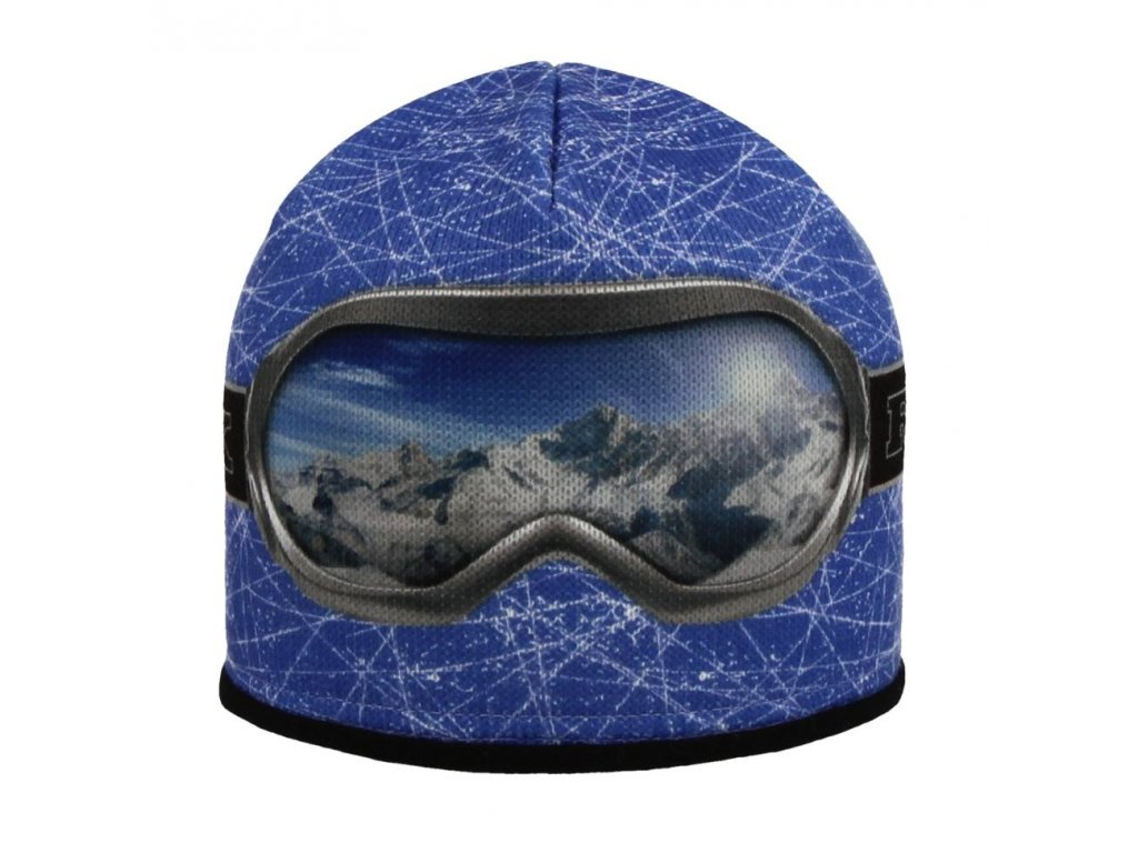RDX zimní pletená čepice Merino 3560 brýle sv.modrá