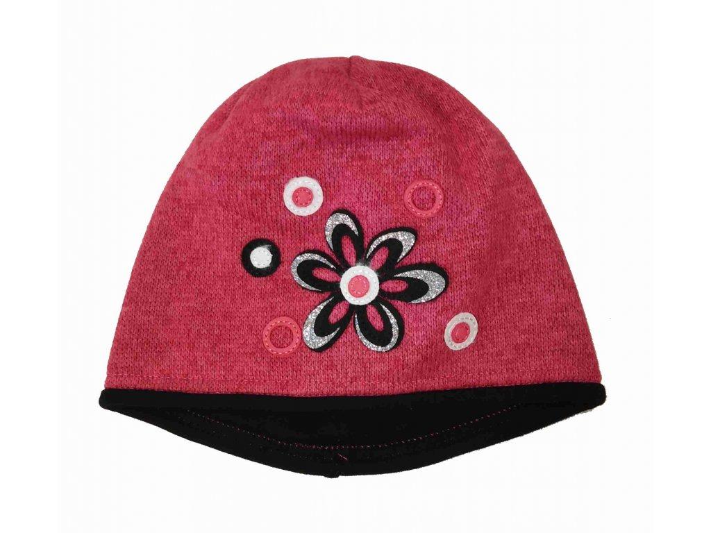 RDX zimní pletená čepice 3456 růžová