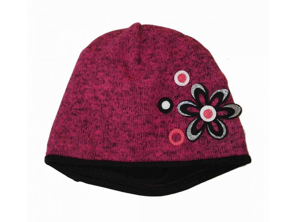 RDX zimní pletená čepice 3456 magenta