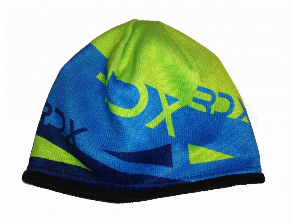 RDX zimní pletená čepice 3663 modrá