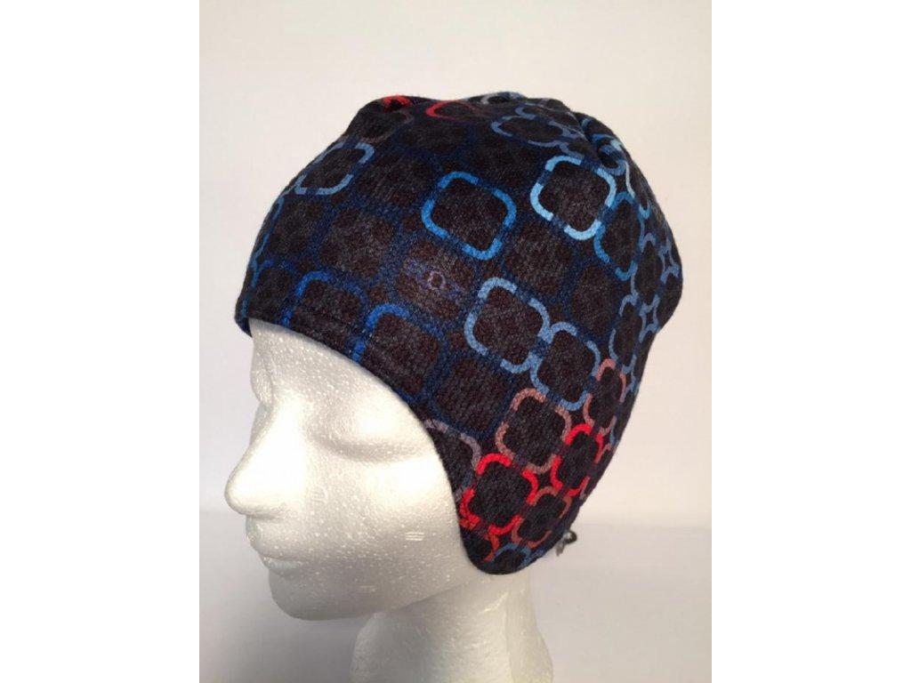 RDX zimní čepice přes uši 3485 modrá
